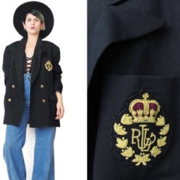 d442283f124 Lauren Ralph Lauren Jackets   Blazers - Vintage Ralph Lauren Double  Breasted Crest Blazer